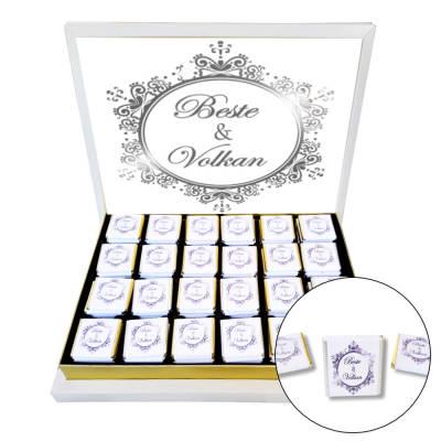 - Avangard Gümüş Nişan - Nikah Çikolatası