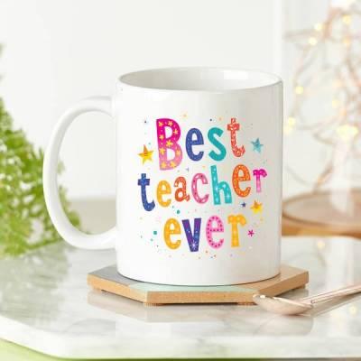 - Best Teacher Ever Öğretmene Kupa Bardak