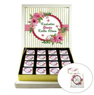 - Çiçekli Kadınlar Günü Hediyelik Çikolata
