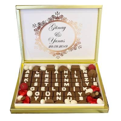 - Harf Nişan Söz Çikolatası