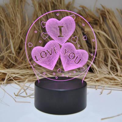 - I Love You 3D Gece Lambası