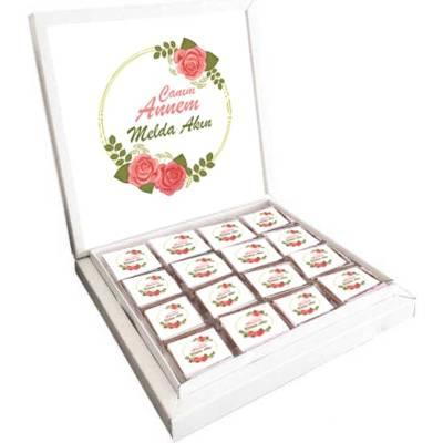 - İsme Özel Güllü Anneler Günü Çikolatası