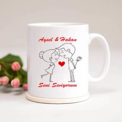 - İsme Özel Sevgiliye Kupa Bardak Hediyesi