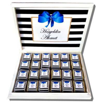 - Mavi Fiyonklu Bebek Çikolatası