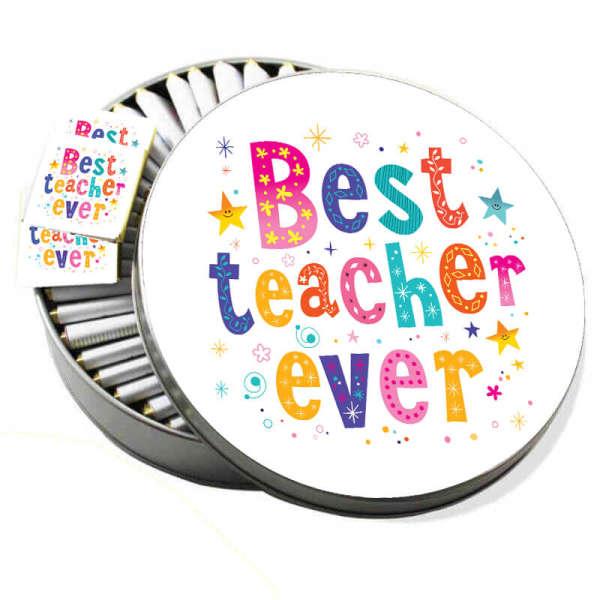 Metal Kutuda Best Teacher Ever Çikolata