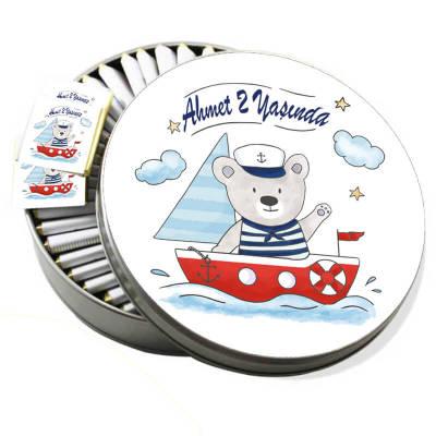 - Metal Kutuda Denizci Doğum Günü Çikolatası