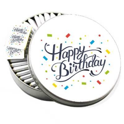 - Metal Kutuda Happy Birthday Doğum Günü Çikolatası