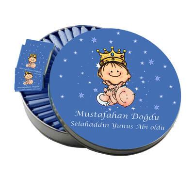 - Metal Kutuda Kardeş Bebek Çikolatası