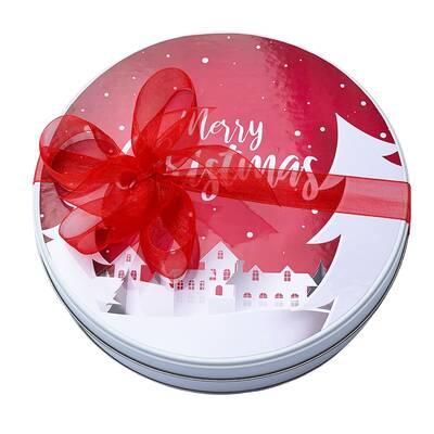 - Metal Kutuda Yılbaşı Çikolatası Merry Christmas