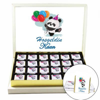 - Pandalı Erkek Bebek Çikolatası