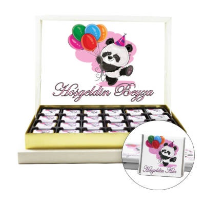 - Pandalı Kız Bebek Çikolatası