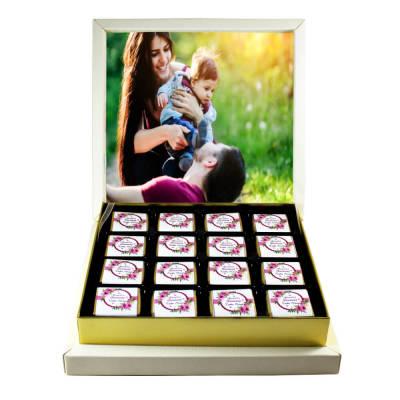 - Resimli Anneler Günü Çikolatası (Madlen Çikolatalı)