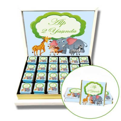 - Safari Hayvanlar Alemi Doğum Günü Çikolatası