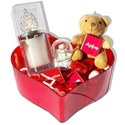 - Sevgiliye En Romantik Aşk Sepeti