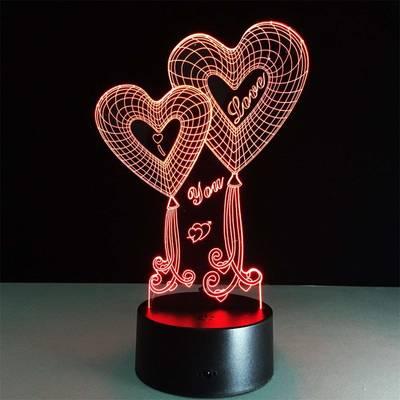 - Sevgiliye I Love Kalp Şeklinde Dekoratif Gece Lambası