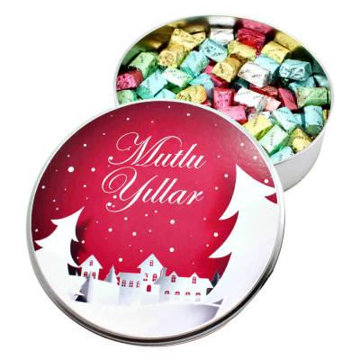 - Yeni Yıla Özel Metal Kutuda Karışık Baton Çikolata (Büyük Boy)