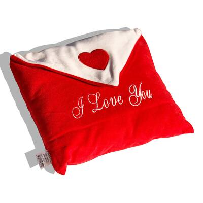 - Zarf tasarımlı Çikolata ve Termoslu Aşk Yastığı